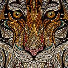 Jeweled Mosaic Inlaid Tiger by pjwuebker