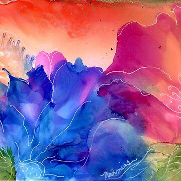 """""""Floral Fantasy""""- Colorful, Unique Artist's Design! by zeneriffic"""