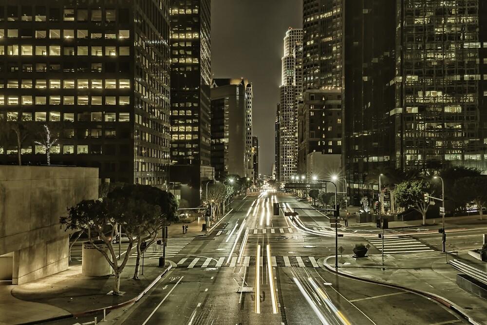 Golden Downtown Los Angeles by Nadim Baki