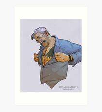 The tattooed man Art Print