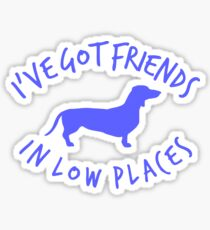 Friends Dashchund Sticker