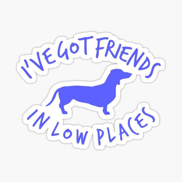 Friends Dashchund Sticker