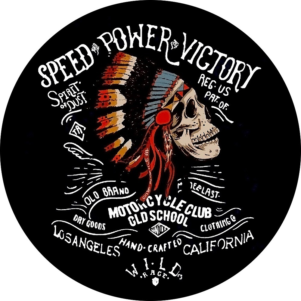 Indian Chief Skull for Motorcycle Bikers by AmorOmniaVincit