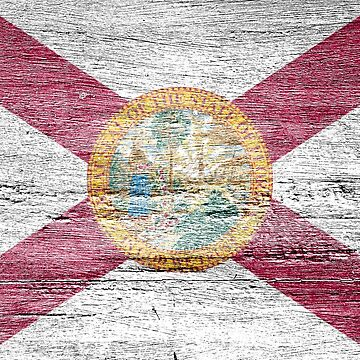 Wood Florida Flag by strippedTees