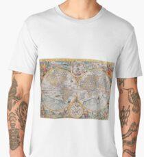 Antique World map c 1599 Men's Premium T-Shirt