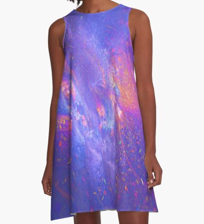 Galactic fractals A-Line Dress