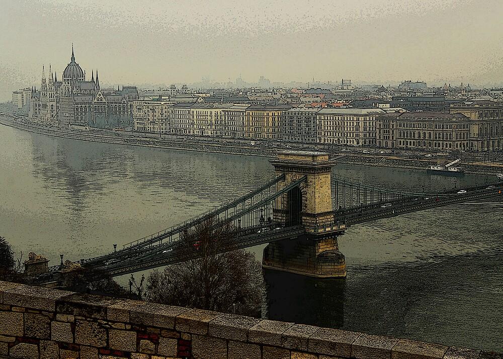 Budapest in Fog by Mariann Kovats