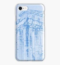 Acropolis of Athens  - BluePrint Drawing iPhone Case/Skin