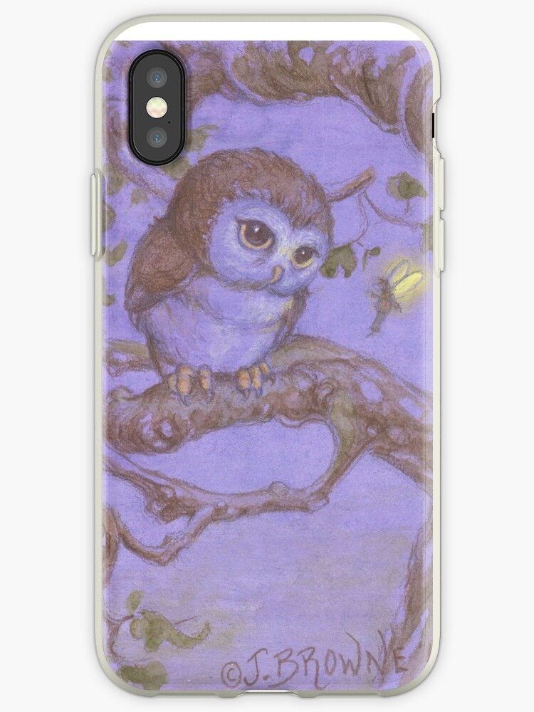 Perriwinkle Owl by JamesBrowneArt