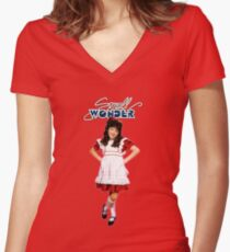 Small Wonder Women's Fitted V-Neck T-Shirt