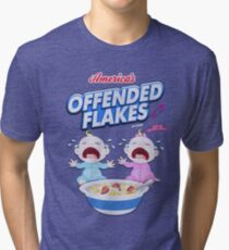 America's Offended Flakes Anti SnowFlake Tri-blend T-Shirt