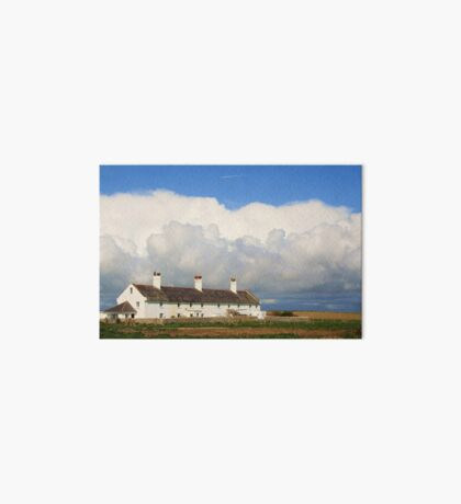 Coastguard Cottages Art Board