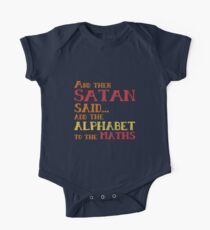 And Then Satan Said...Add the Alphabet to the Maths Funny Teacher Student Mathematics Kids Clothes