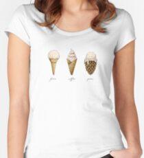 Ice-Cream Cones Women's Fitted Scoop T-Shirt