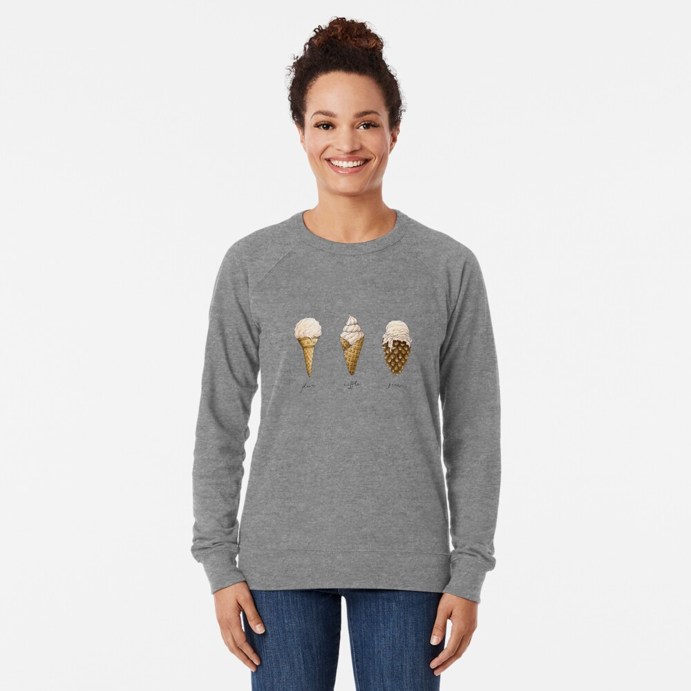 Ice-Cream Cones Lightweight Sweatshirt