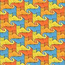 Cat Tessellation by Gianni A. Sarcone