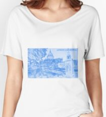 London Cathedral  - BluePrint Drawing Women's Relaxed Fit T-Shirt