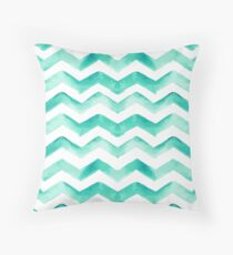 Watercolor Zig Zag Pattern #5 Throw Pillow