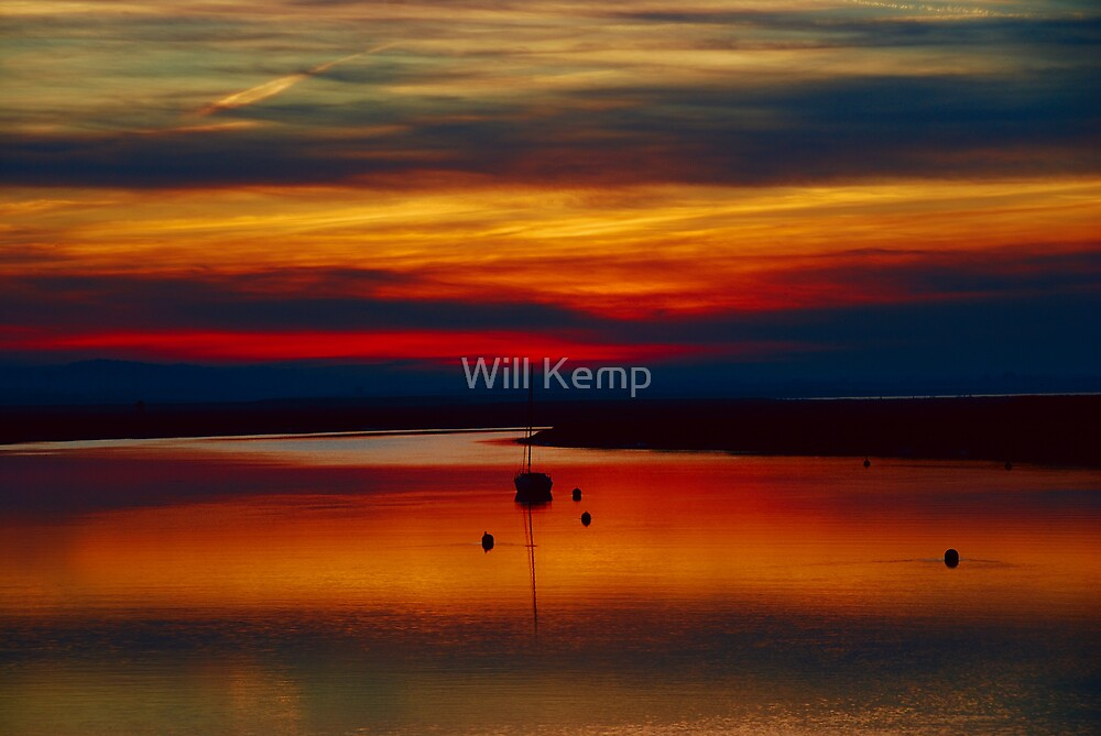 Sunset Over The Crouch by Will Kemp