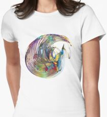 psychedelic modern abstract art Womens Fitted T-Shirt
