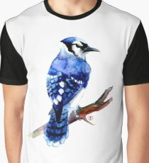 Watercolor blue jay  Graphic T-Shirt