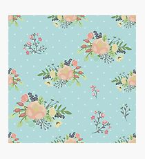 Beauty seamless floral pattern Photographic Print
