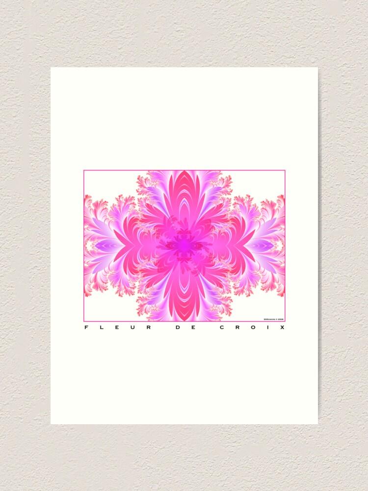 Alternate view of Fleur de Croix Fuchsia Art Print