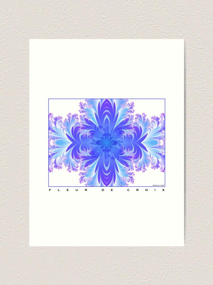 Alternate view of Fleur de Croix Violet Art Print