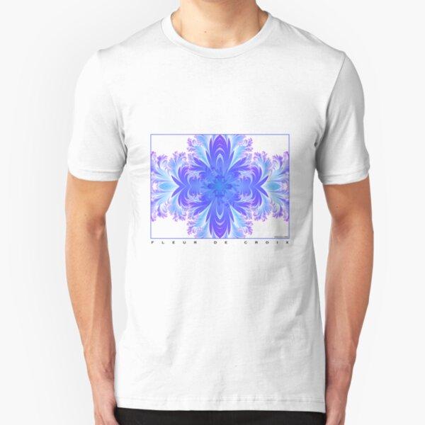 Fleur de Croix Violet Slim Fit T-Shirt