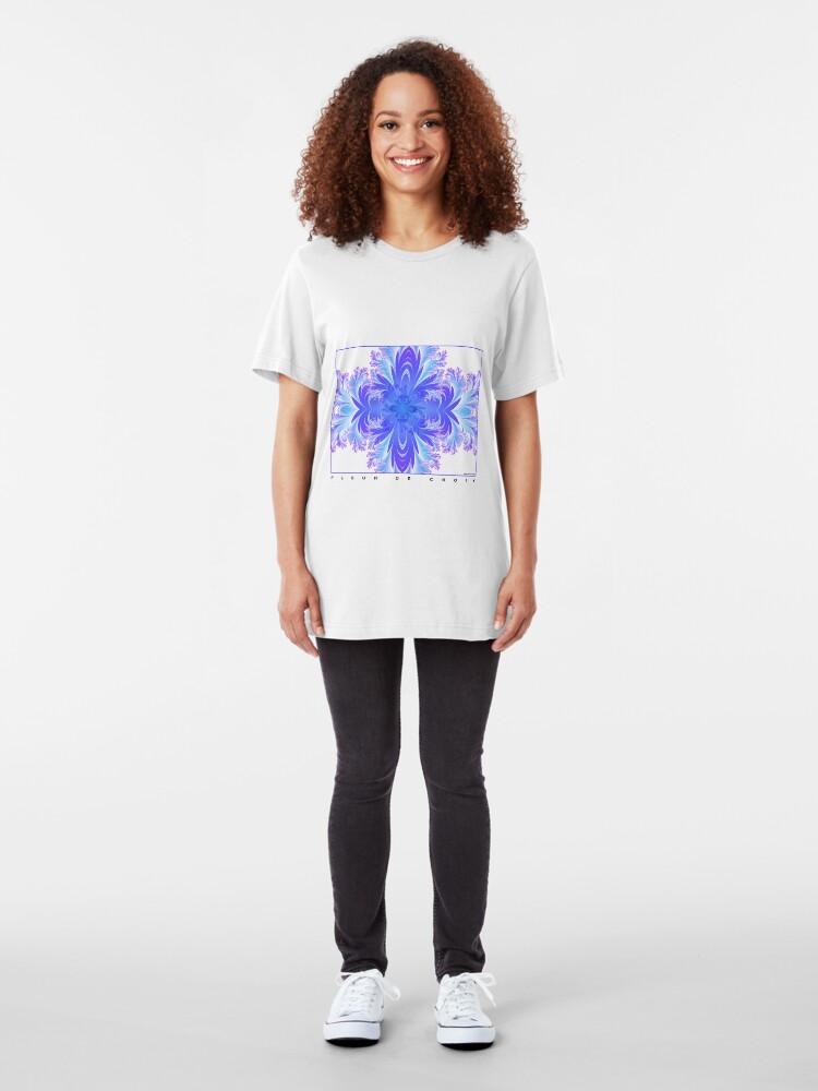 Alternate view of Fleur de Croix Violet Slim Fit T-Shirt