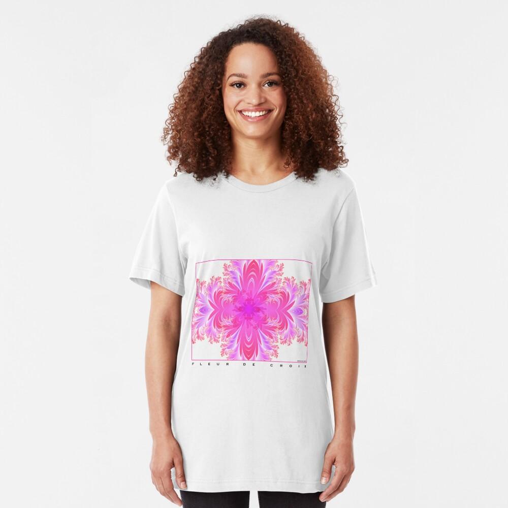 Fleur de Croix Fuchsia Slim Fit T-Shirt