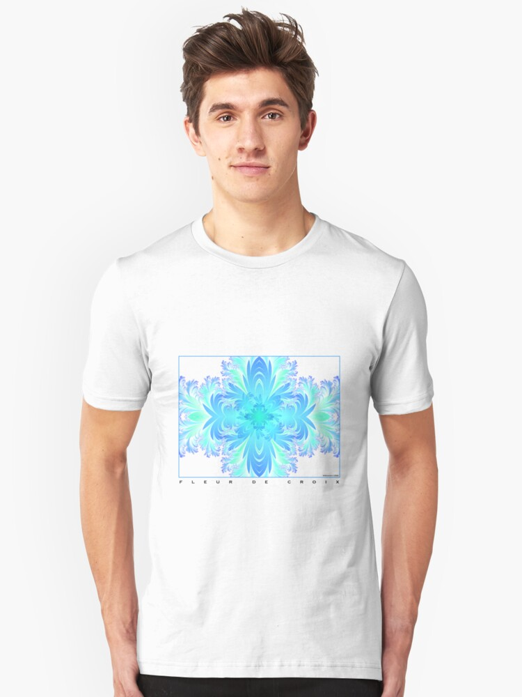 Alternate view of Fleur de Croix Aqua Slim Fit T-Shirt