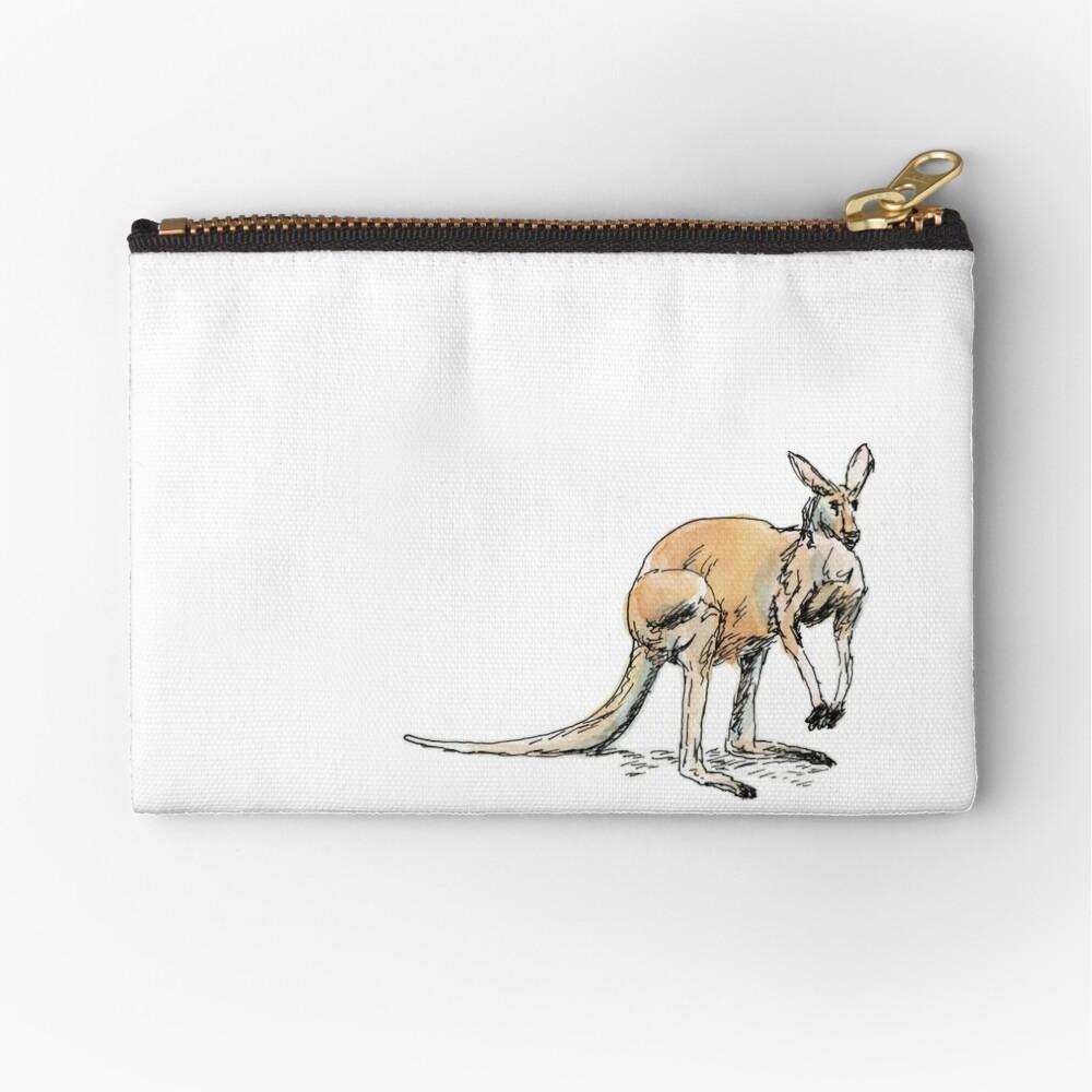 Kangaroo-in-waiting Zipper Pouch