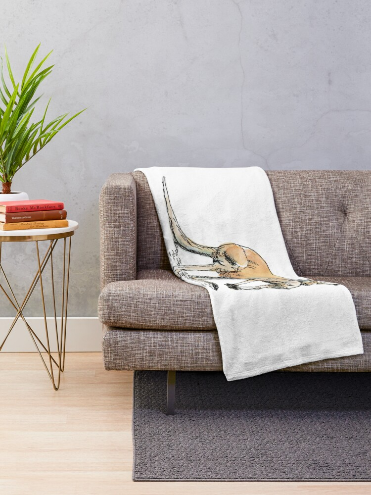 Alternate view of Kangaroo-in-waiting Throw Blanket