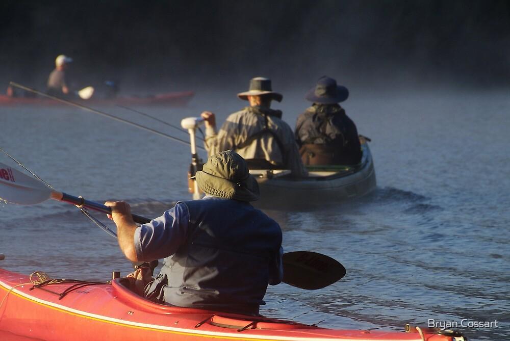 Canoe Fishing by Bryan Cossart