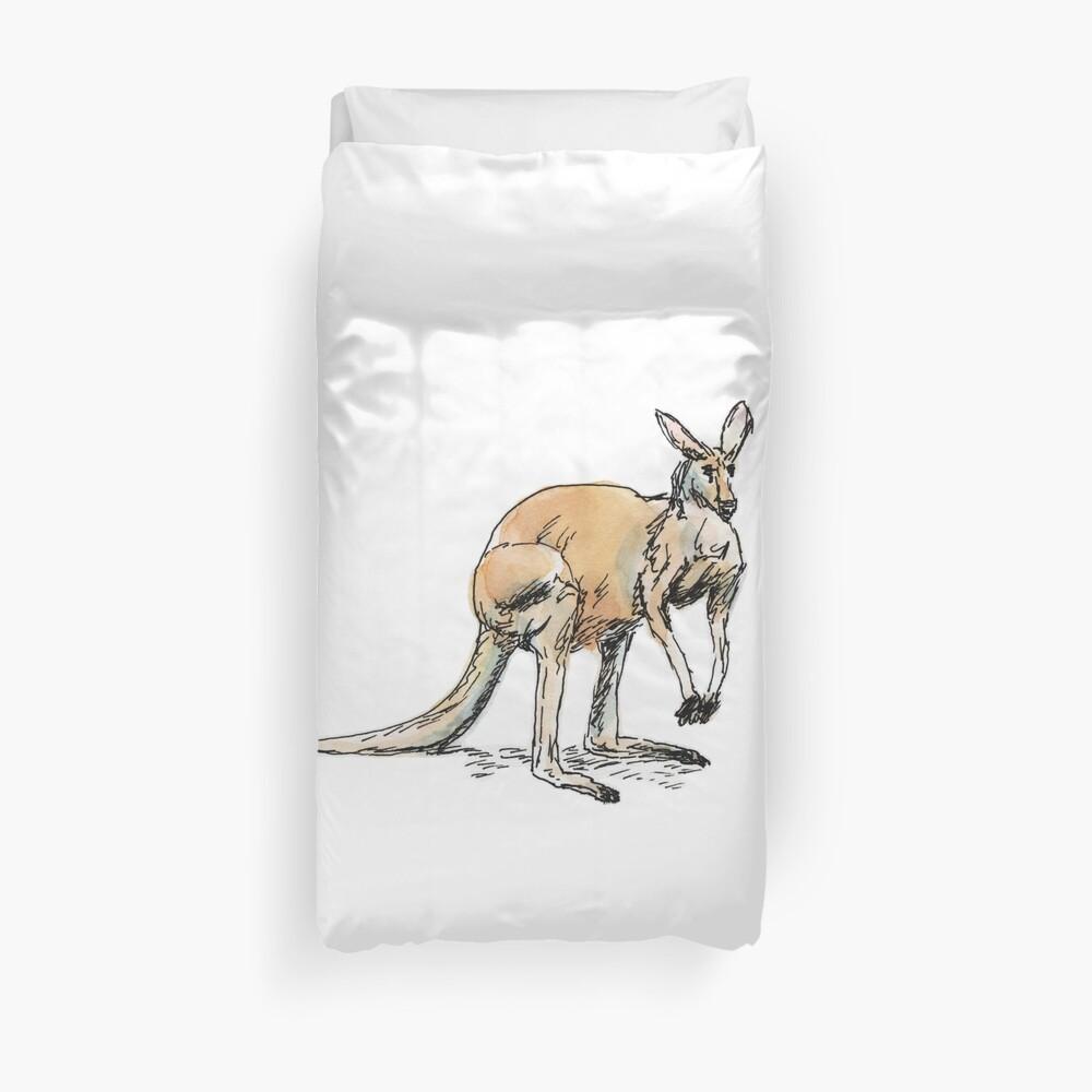 Kangaroo-in-waiting Duvet Cover