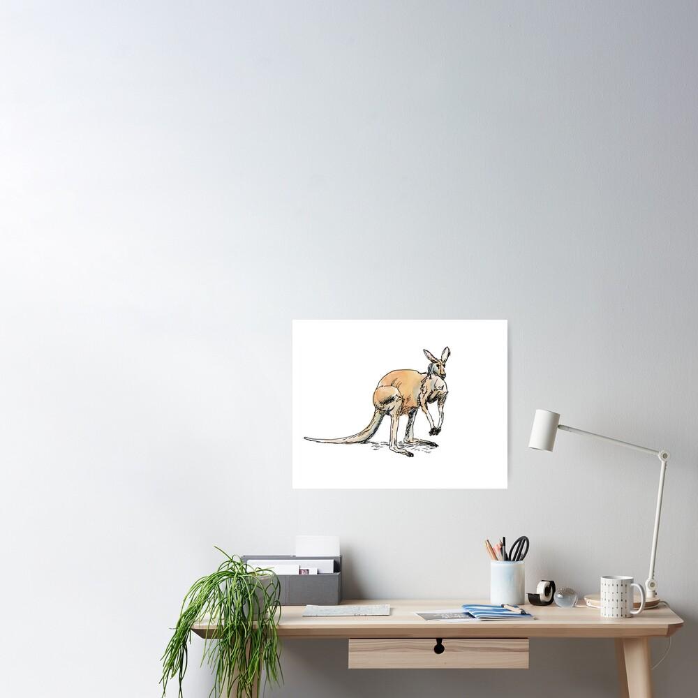 Kangaroo-in-waiting Poster