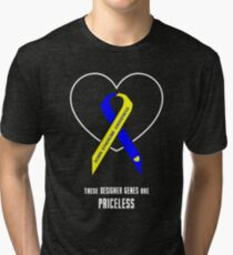 These Designer Genes are Priceless -- Down Syndrome Awareness Tri-blend T-Shirt