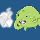How's That Apple? - Tree Trunks (White) by Alex Clark