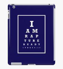 Rapture Eye Chart (White) iPad Case/Skin