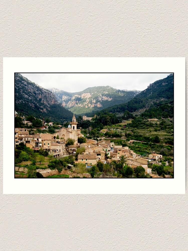 Alternate view of Spanish town of Valdemossa in Mallorca Art Print