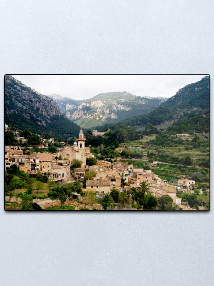 Alternate view of Spanish town of Valdemossa in Mallorca Metal Print