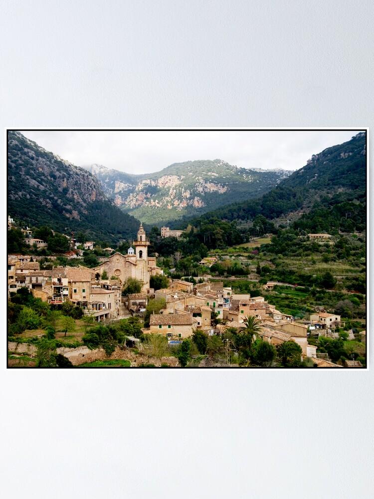 Alternate view of Spanish town of Valdemossa in Mallorca Poster