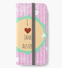 Jane Austen Collection Pink Design iPhone Wallet/Case/Skin