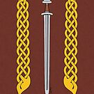 Viking Sword and Plaitwork by Richard Fay