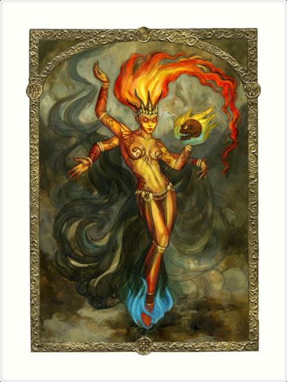 Elemental of Fire & Revenge by BohemianWeasel