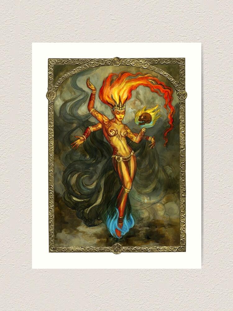 Alternate view of Elemental of Fire & Revenge Art Print