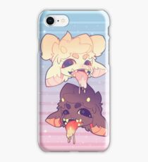 TEIBBLES - ACID DROOL BABIES BLUE AND PINK iPhone Case/Skin