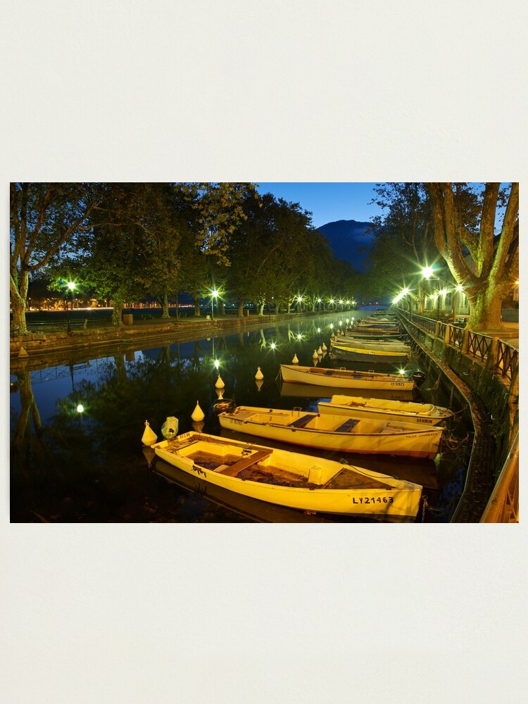 Alternate view of Annecy - dawn over the channel Photographic Print
