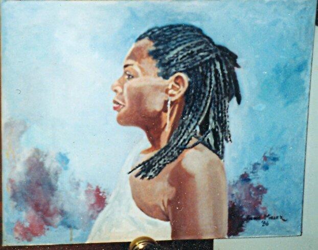 oil portrait of girl by dummy